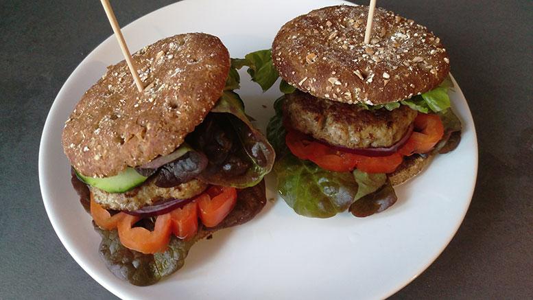 Fitness-Burger-Schaschlikspiesse
