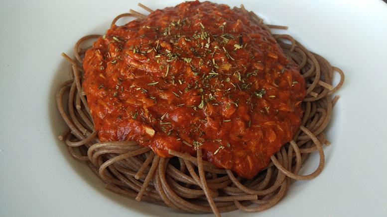Thunfisch-Tomaten Pasta