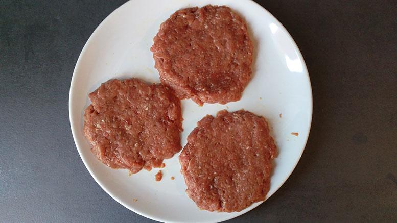 Hackfleisch-Patties, roh