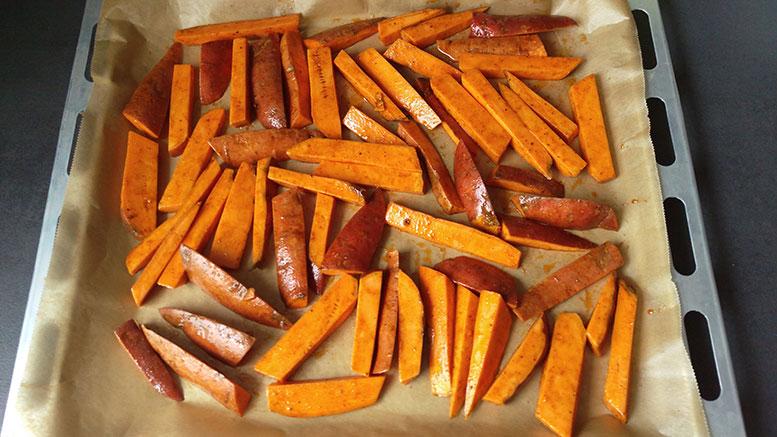Suesskartoffeln-Backofen