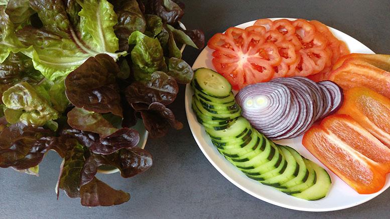 Vegane Burger Gemüse