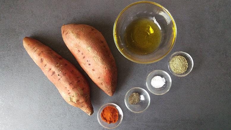 Süßkartoffel-Pommes: Die Zutaten