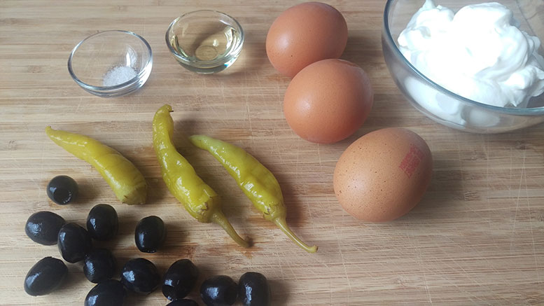 Zutaten griechisches Omelette