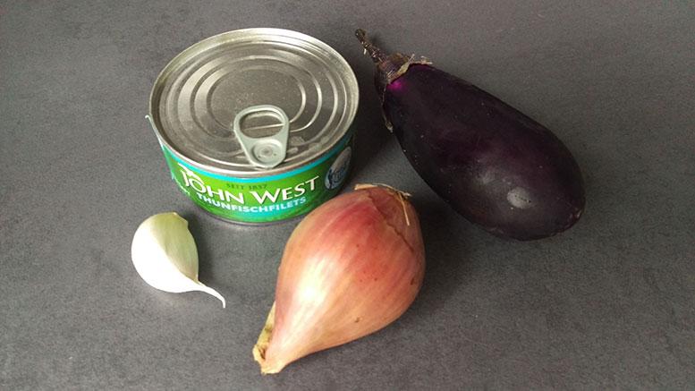 Zutaten Thunfisch-Auberginen-Aufstrich
